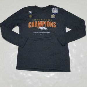e4413b164 ... Super Bowl 50 Champions LS Denver Broncos Boys L S SB 50 Champions  Shirt ...